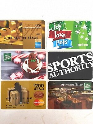 Various Novelty Zero Value Collectible Used Gift Cards