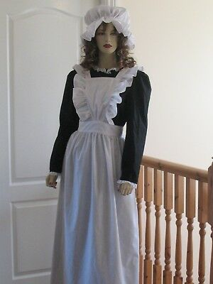 VICTORIAN/EDWARDIAN ERA AUTHENTIC STYLE MAIDS APRON ( small)