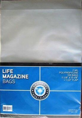 (1000) Life Magazine Size Psd Acid Free Storage Bag Sleeve Holders  sc 1 st  PicClick & 300 Life Magazine Bags Sleeves Plastic Protector Resealable Storage ...