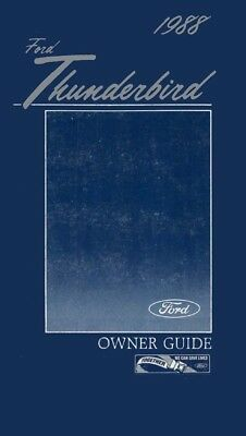 1995 Ford Thunderbird Owners Manual User Guide Reference Operator Book Fuses
