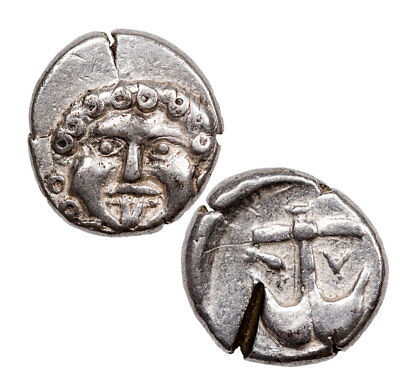 Greek Colony of Apollonia Pontica, Silver Drachm Medusa Portrait Box SKU52280