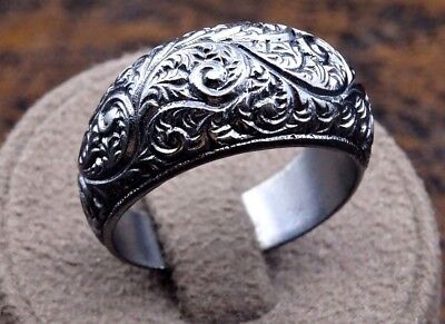 Turkish 925 Sterling Silver special handmade no stone Mens mans ring ALL SİZE us