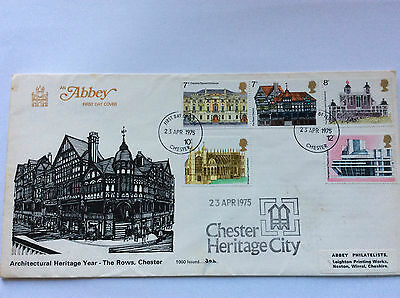 1975 Rare Abbey FDC European Architectural Heritage Year, The Rows Chester NLE
