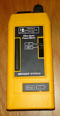 Megger OTP510 fiber optic power meter (No charging cable)