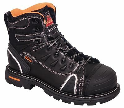"""Thorogood Work Gen Flex2 804-6444 Mens Black 6"""" Lace-To-Toe Composite Toe Boots"""