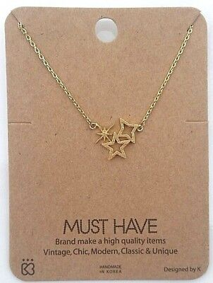 eed9d0e68fb02 GOLD STAR NECKLACE dainty star choker necklace minimal thin chain ...