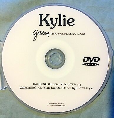 Kylie Minogue DVD music video DANCING + Commercial (This is Not a CD) Golden