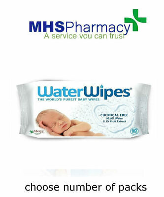 Waterwipes - Chemical Free Sensitive Baby Wipes - Choose Your Pack Size!