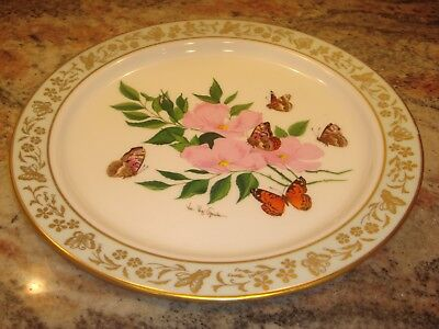 Lenox Butterflies & Flowers Fifth in the Series collector's plate