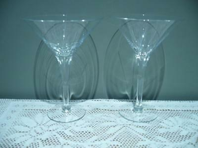 Krosno Hand Made Vintage Martini / Cocktail Glasses X 2 In Box - Vgc