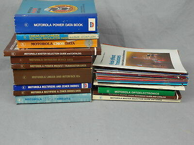 31 Motorola Ic Databook & Manual Collection Rare Vintage History