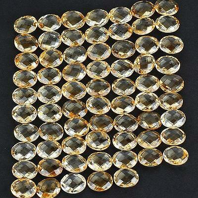 VVS 276 Cts/68 Pcs AAA High End Natural Citrine Oval Checkerboard Cut 12mm/10mm