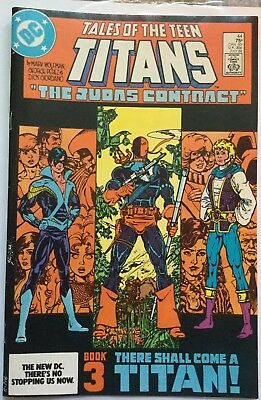 New Teen Titans #44 Vf/nm 1St Nightwing, Origin Deathstroke,1St Jericho Costume!