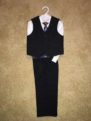 NWT Izod Toddler Boys 4-Piece Suit Black Size 2T