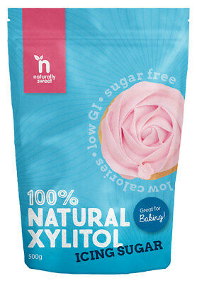 Naturally Sweet Xylitol Icing Sugar 500g Pouch - Enjoy Your Sweet Guilt Free