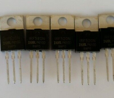 5 Pcs IRF740 IRF740N TO-220 N-Channel IR Power MOSFET USA Seller free ship