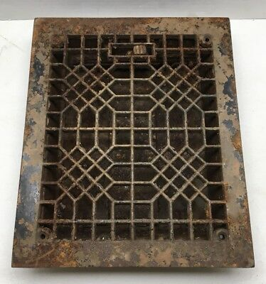 Antique Vintage Cast Iron Floor Grate Register Architectural Heating Steam Punk