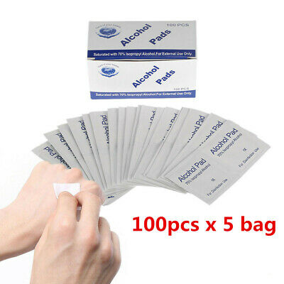 Alcohol Prep Pads Antiseptic Sterilization Swabs Wipes Cleanser 100Pcs M3K1