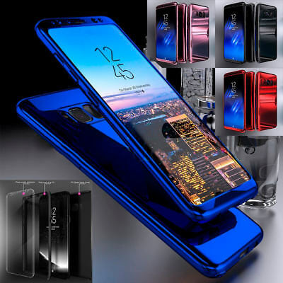 Shockproof Hybrid 360 Ultra Thin Mirror Hard Case Samsung Galaxy S7 Edge S8 Plus