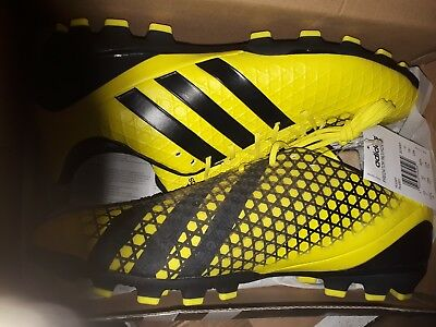 adidas Mens Predator Incurza AG Rugby Boots Bright Yellow/Core Black uk 10