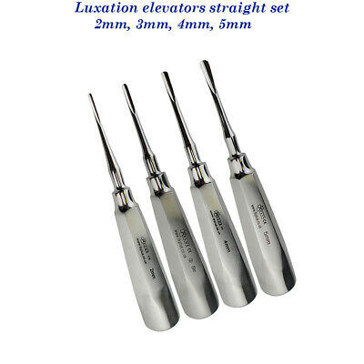 Dental Set of 4 Luxating Elevator Str 2-5mm Top Quilty Surgical instruments CE