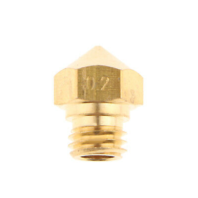 3D Printer Nozzle 0.2mm Extruder Print Head Accessories For 1.75MM MK10