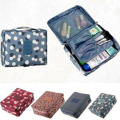 Travel Cosmetic Storage MakeUp Bag Folding Hanging Organizer Pouch Toiletry AU