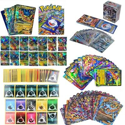 10/20/50/100/120pcs Pokemon TCG Mixed GX/EX MEGA FULL ART Trainer CARTE