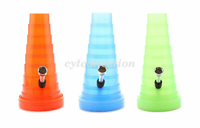 1Pcs Folding Plastics Water Pipe Bubbler Hookah Bong (Random Color)