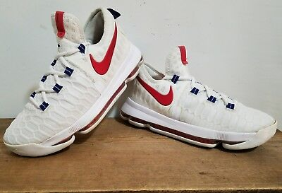 743a893dfbca NIKE ZOOM KD 9 (GS) USA White Red Navy Kevin Durant Kids Size 6.5Y ...