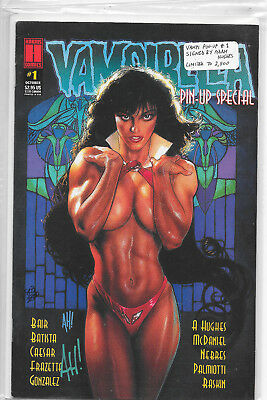 Vampirella Pin-Up Special #1 Harris Comics Signed By Adam Hughes VF/NM