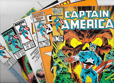 Captain America #326 327 328 329 330 Marvel Comics Lot VF/NM