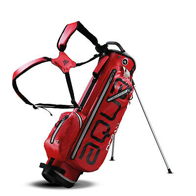 BIG MAX AQUA OCEAN Golf Standbag - 100% Wasserdicht Red/Silver