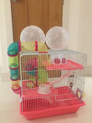 Hamster Cage and exercise balls