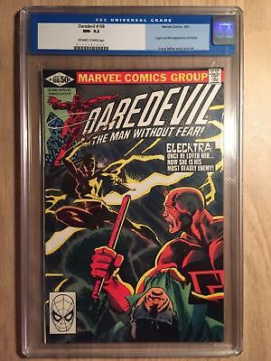 Daredevil #168 CGC 9.2 NM- (Old Blue Label) First Appearance of Elektra