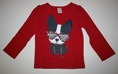 New Gymboree Girls Puppy Dog Glitter Heart Sunglasses NWT 3T Red Long Sleeve Tee