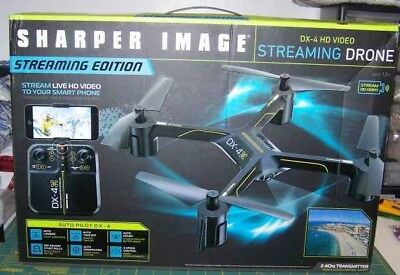 Sharper Image Dx 4 Hd Video Streaming Drone 3 Speed Control New