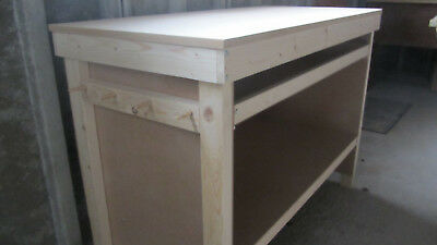 Brand New Heavy Duty Wooden Work Bench with Tool Storage Tray and Hanging Pegs