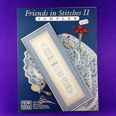 "Vintage Cross Stitch Booklet ""Friends In Stitches Sampler II"" The Needle's Work"