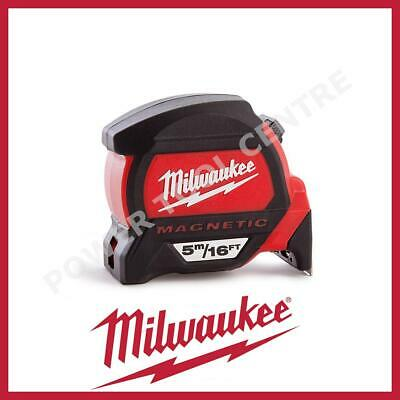 Milwaukee 4932459374 5m/16ft Magnetic Tape Measure with Finger Stop HP5-16MG/27