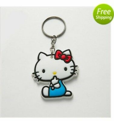 Hello Kitty Keychain Cartoon Silicone Rubber Keychain
