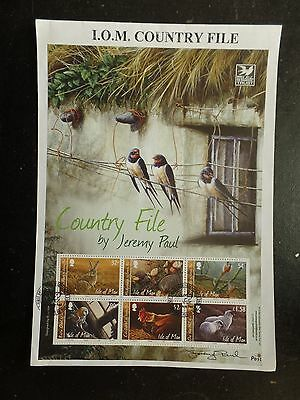 I.O.M. 2009 Country File sheetlet FDC