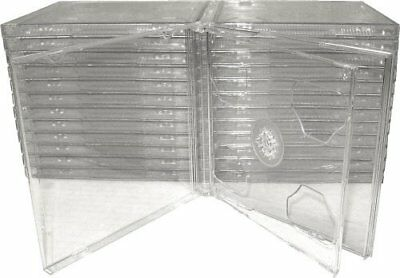 25 Jewel Case CD Clear Double Smart Tray Hinge High Quality Plastic Safe Package