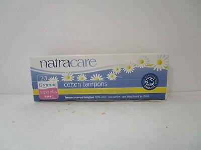 Natracare Organic Cotton Tampons, Super Plus 20 ea (PACK OF 9) New, FREE SHIP!
