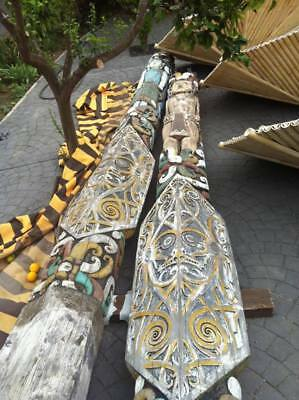 Antique Totems from Timor Island handcarved on both sides