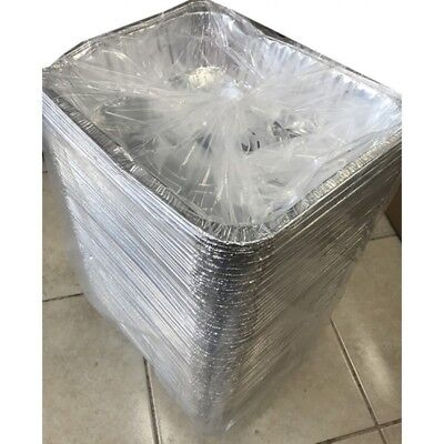 100 Aluminum Foil Steam Table Pans Half Size Deep Bakers and amp; Chefs