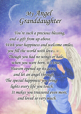 Angel Verse Poem Greeting Card - Guardian/Healing/Friend - Free Delivery