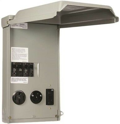 GE GE1LU532SS Unmetered RV Outlet Box, 100 Amp