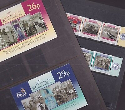 Isle of Man 2005 Mint MNH Full Set Strip Booklet Self Adhesive Time to Remember