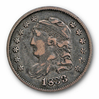 1833 Capped Bust Half Dime Very Fine to Extra Fine Original #3634